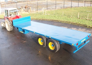 Fleming Flat Bed Bale Trailer