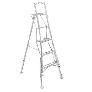 Henchman Platform Tripod Ladder - 1.8m (6ft) Three Adjustable Legs