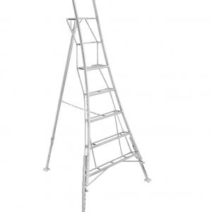 Henchman Platform Tripod Ladder - 2.4m (8ft) Three Adjustable Legs
