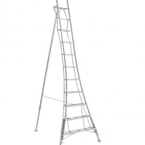 Henchman Platform Tripod Ladder - 3.6m (12ft) Three Adjustable Legs