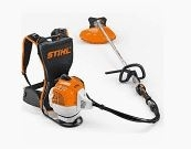 Professional backpack brushcutter with self-tuning engine